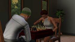 Jogando Xadrez Sims3