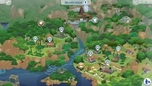 Mapa de Selvadorada