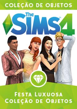 Capa The Sims 4 Festa Luxuosa (Primeira Versão)