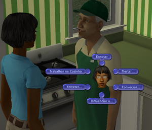 Interações cozinheiro república