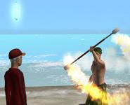 Aprendendo a dança do fogo 1