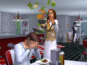 Sims 2 Derrubando Comida