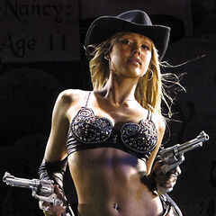 Nancy Callahan (Jessica Alba) armed with a pair of stainless Ruger Blackhawks in a promotional image.