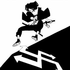 Throwing a shuriken.