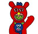 Crimson with Dark blue mouse