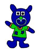 Monster blue sing a ma jig