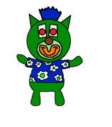 Dark green sing a ma jig