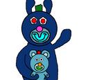 Blue with Light Blue Teddy Bear