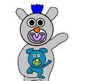 Silver with Blue Koala