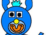 Sky Blue with Blue Teddy Bear