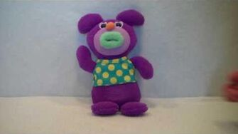 "2010 Sing-a-ma-jigs ""Oh My Darling, Clementine"" Purple Plush By Fisher Price-1"