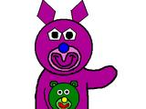 Lilac with Green Teddy Bear