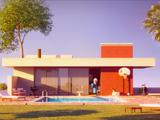 Eddie's pool house