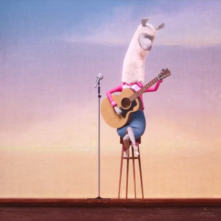 The alpaca attempts to audition for <a href=