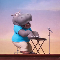 The hippo auditions for the singing competition by singing <i><a href=