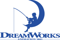 DreamWorks Animation SKG logo with fishing boy