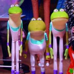 The frog trio await <a href=