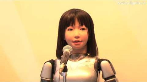 Yamaha singing robot using VOCALOID speech synthesis software DigInfo