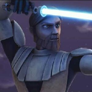 ObiWan with lightsaber