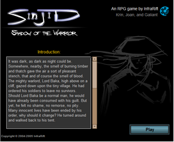 Start Screen Sinjid Shadow of the Warrior