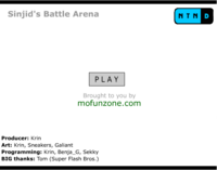 Start Screen Sinjid Battle Arena