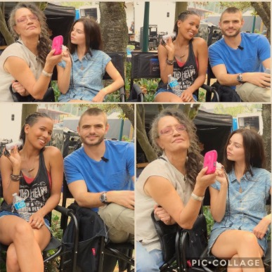 File:BTS The Lure Rena Owen, Eline Powell, Fola Evans-Akingbola and Alex Roe 7-9-17.jpeg