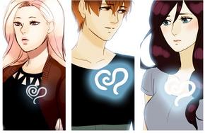 Lyra, Shon, and Aleah With Blue Hearts 1