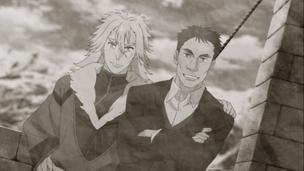 Alexei Jirov & Captain Mamoru Akasaka -Photo seen in Sirius the Jaeger S01X09-