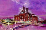 Herb Ryman's initial illustration of the Power Plant