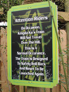 Kingda Ka rollback sign
