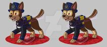 Paw patrol ultimate rescue fire pup chase by kreazea-dcncram
