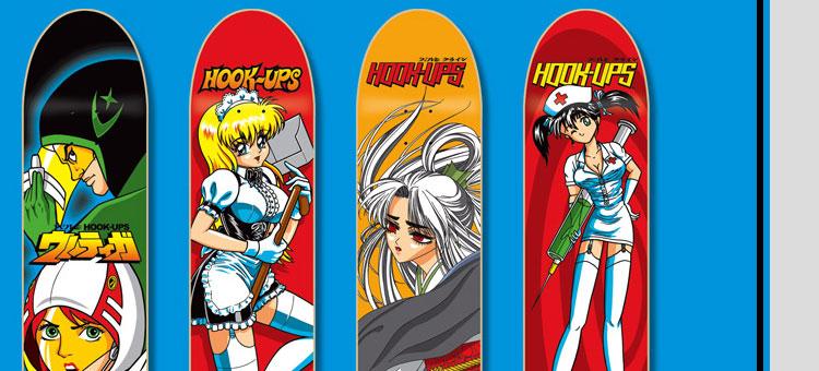 Hookups skateboard logo
