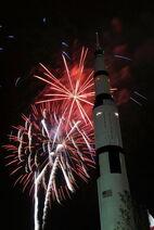 Apollo courtyard fireworks