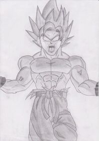 Goku false super saiyan dbz by joltkid-d3e1ylw