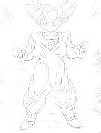 Goten SSJ Sketched By BlazeFireXXXX