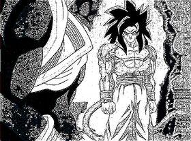 SSJ4 Goku Manga Style