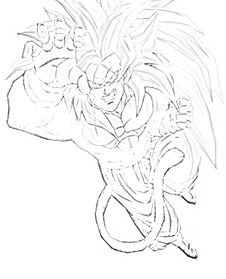 SSJ5 Goku Sketch