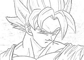 SSJ Goku Sketch (Best I Could Do)