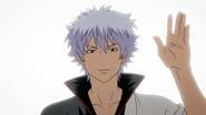 Gintoki waving goodbye