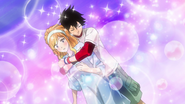 Bossun hugs Momoka