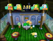 Nickelodeon Party Blast Food fight minigame