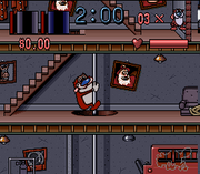 Ren & Stimpy Fire Dogs SNES screenshot