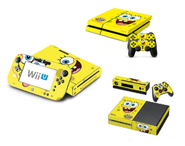 Video game console covers with SpongeBob on it