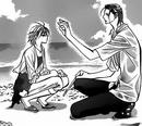 Corn touches kyokos forehead