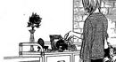 Kyoko looks at her magical shelve