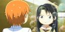 Cute Kanae stares at Kyoko
