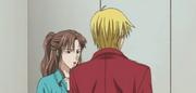 Shotaro and shoko looking at kyoko