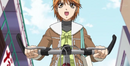 Kyoko in her bike with outfit