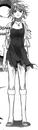Kyoko standing in Guam Beach