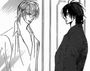 Kuon and ren staring at his face